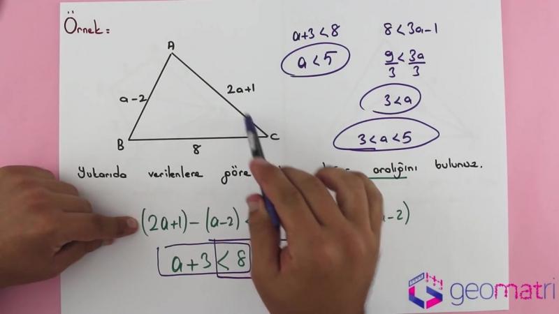 Açı Kenar Bağıntıları 2 ► Üçgen Eşitsizliği I - Konu Anlatımı ve Soru Çözümleri