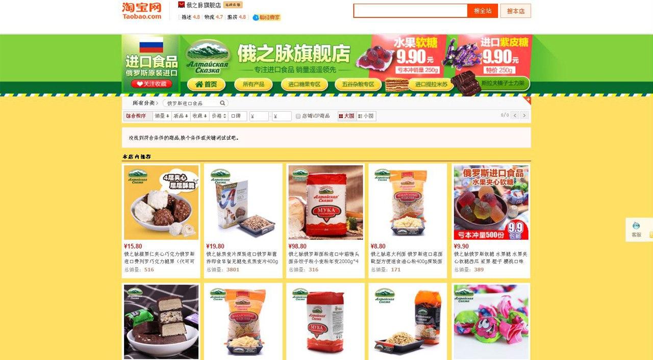 Продажа российских товаров в Китае на площадке Taobao | Ассоциация предпринимателей Китая