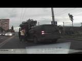 Утырок с ножом на дороге в Краснодаре #Краснодар #Хам #Утырок #нападение