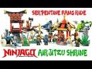 Ninjago Airjitzu Mountain Shrine Serpentine Fang Rides Unofficial LEGO KnockOff Set