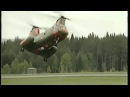 Swedish pilot does crazy things with Chinook helicopter!