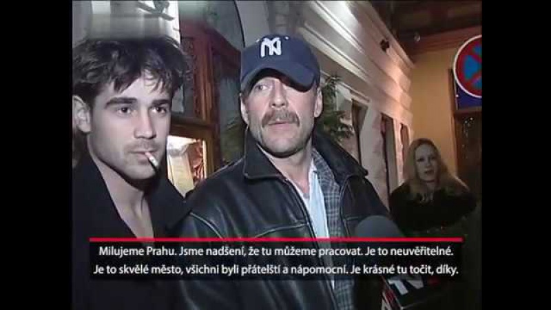 Bruce Willis, Demi Moore a Colin Farrell v Praze (2001)