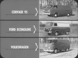 CORVAIR FC 95 Vs FORD ECONOLINE &amp VOLKSWAGEN VAN 1961