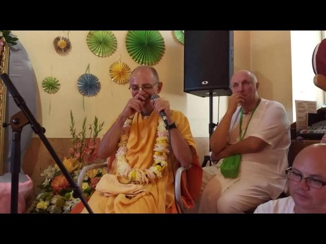 Речь Бхакти Вигьяны Госвами на Вьяса-пудже Гопал Кришны Госвами в Москве. 2016 год.