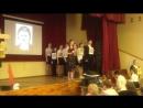 Выступление на школьном конкурсе Колокола Победы 8-б класса