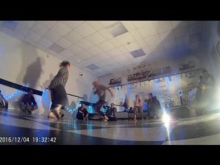 House Dance Jam двойная импровизация Даша и Настя