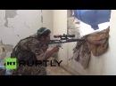 Сирия СДС снайперы продолжают наступление против ИГ в Манбидж.
