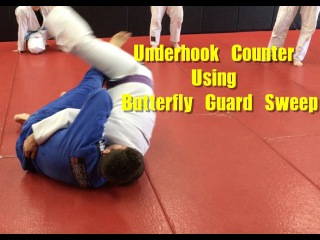 Underhook Counter With Butterfly Guard Sweep (W/ Drill To Practice) underhook counter with butterfly guard sweep (w/ drill to pr