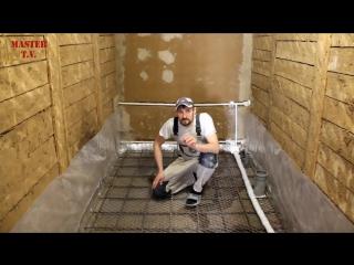 Ванная комната в деревянном доме  часть 1