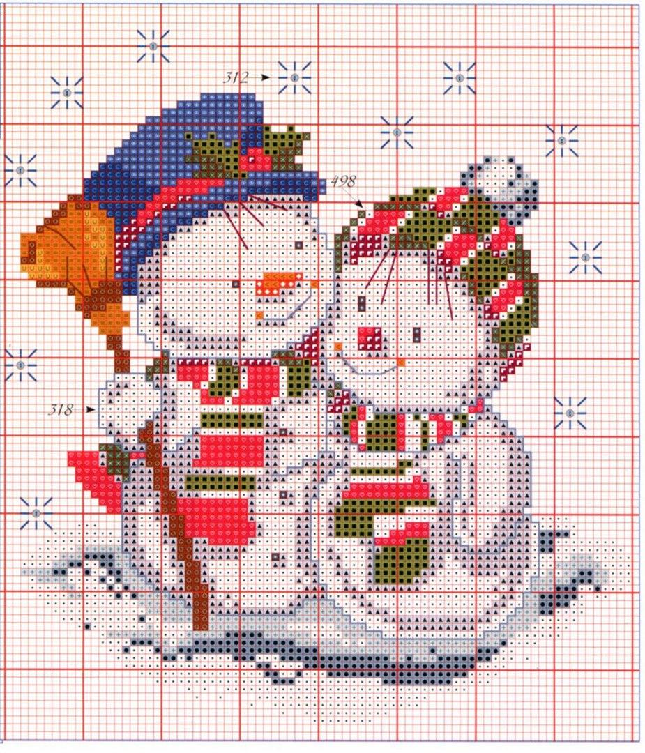 схема вышивки крестом восточный календарь