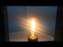 Светильник-рамка. Лампа Эдисона.