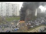 Автобус загорелся на улице Мусы Джалиля в Москве
