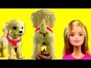 Барби. Видео с куклами для девочек. Игрушка какающая собачка щенок. Barbie