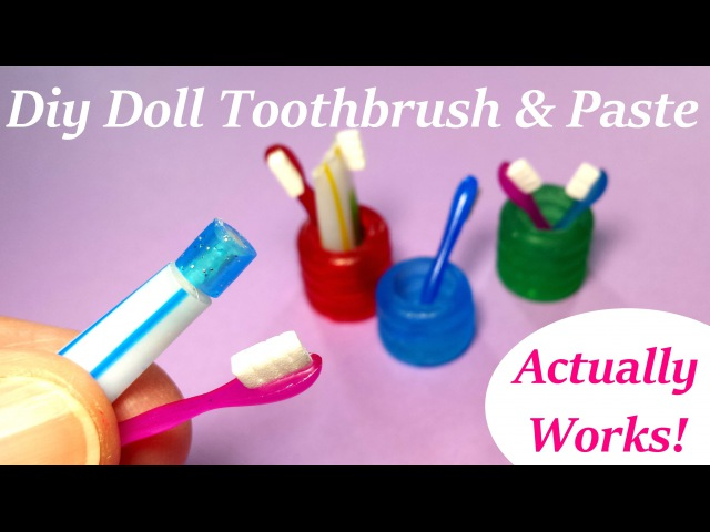 DIY Miniature Doll Toothbrush Holder Working Toothpaste Bathroom Accessories