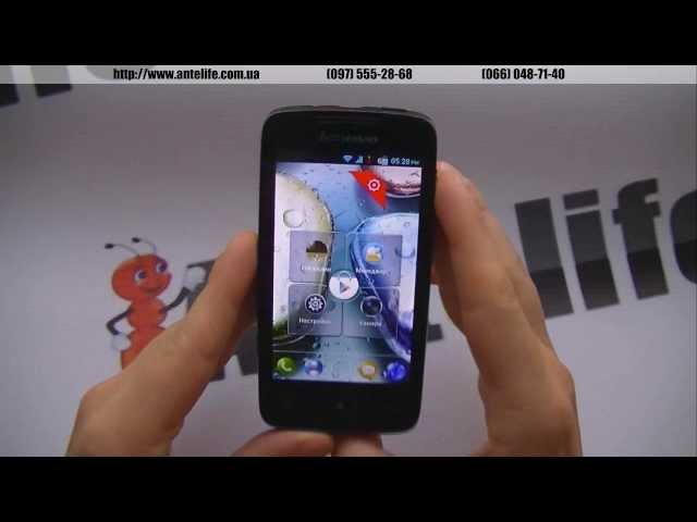 Lenovo A390 MTK6577 обзор смартфона