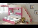 Детская двухъярусная кровать Легенда 10 с угловой лестницей. Мебель. Интернет-магазин Лайтик