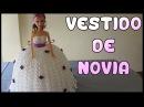 Vestido de Novia a crochet para Muñeca