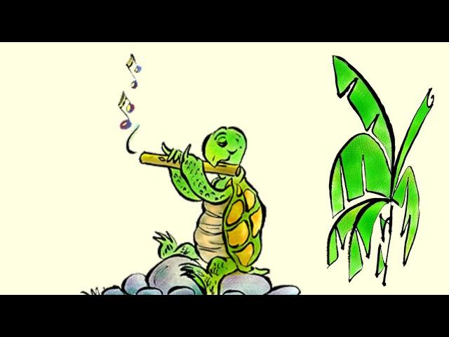 Turtle's Flute: Learn Sanskrit with subtitles - Story for Children BookBox.com