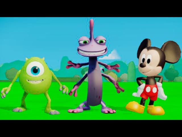 Мультик игра для детей Майк Вазовский Рэндал и Микки Маус в мире машинок ТАЧКИ ДИСНЕЙ Disney Cars