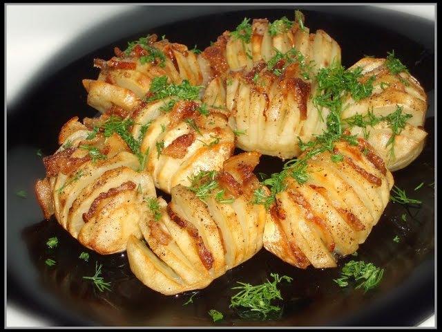 Картошка гармошка три простых и вкусных рецепта Картошка в духовке в фольге смотреть онлайн без регистрации