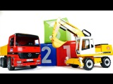 Грузовичок перевозит игрушки. Развивающее видео. Учимся считать до трех.