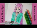 Speed Drawing - Moka Akashiya - Rosario Vampire