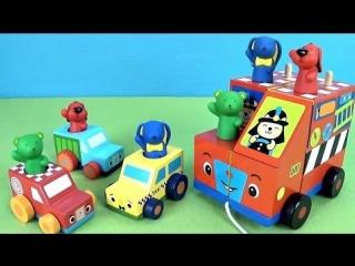 Развивающие машинки Патрик и его друзья. Мультики с игрушками для детей