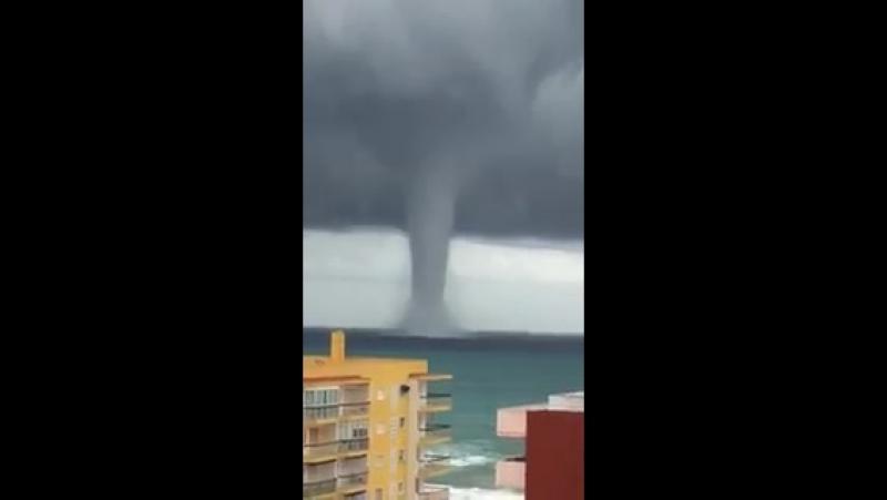 Ahora tornado en El Perello, Sueca
