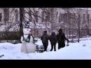 Суперржач в Томске испуг снеговик снеговик пугает людей падение снеговика снеж