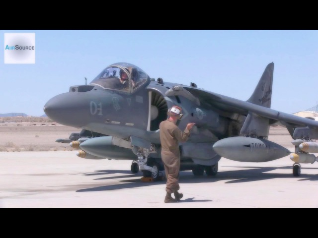 AV-8B Harrier Pre-flight, Conventional Takeoff Landing.