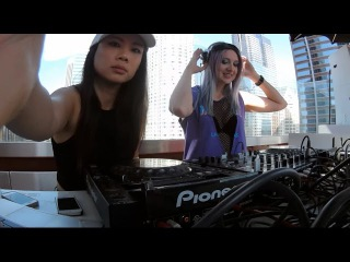 Bliss & Eliza Spin at The Standard Hotel Pool Party Labor Day Weekend