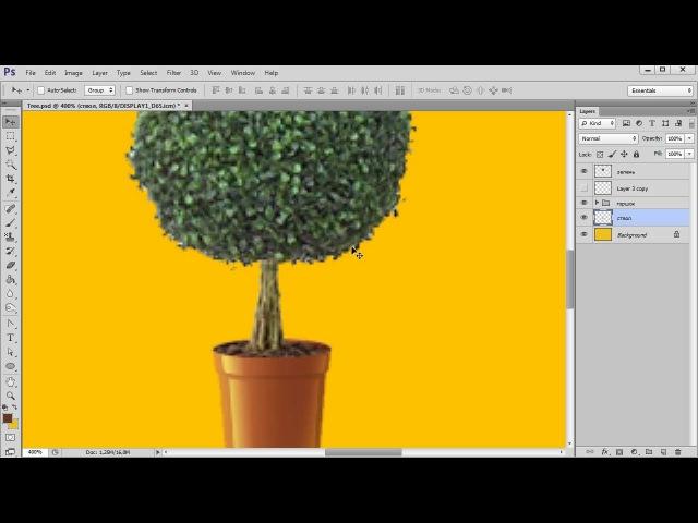 Растение в горшке ( урок по техдизайну )
