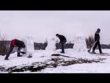 Снеговики моаи с острова Пасхи