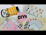 3 Creative &amp Cute DIYs DIY Animal Face Bookmarks+DIY Neko Atsume Phone Case &amp Phone Pouch