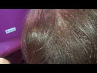 Волосы после комбинированного прикорневого объема