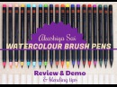 маркеры Akashiya SAI Brush Pen Akashiya Sai watercolour brush pens | Review Demo blending tips lovesummerart