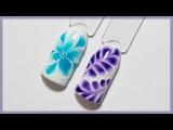Весенний дизайн ногтей по мокрому гель-лаку Маникюр цветок, веточка Гель-лаки Naomi