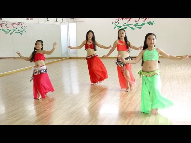 Múa bụng thiếu nhi quận 5( I Wana Dance) - GV.Trang Bellydance