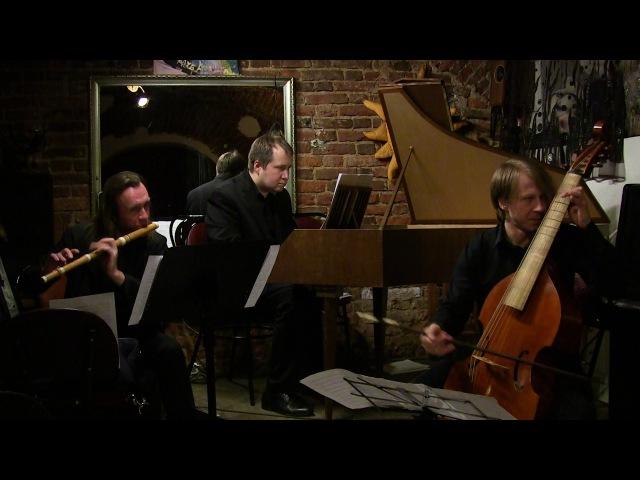 Бах И.С. Финал Трио-сонаты соль мажор для флейты, виолы да гамба и basso continuo