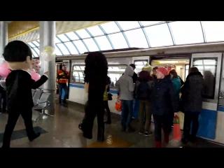 Огонь! Стас Михайлов и Валерий Леонтьев в метро в Казани