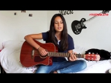 Imagine Dragons - Radioactive (cover),красивая девушка классно спела кавер,круто играет на гитаре,поёмвсети,шикарно поёт,красиво