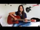 Imagine Dragons - Radioactive cover,красивая девушка классно спела кавер,круто играет на гитаре,поёмвсети,шикарно поёт,красиво