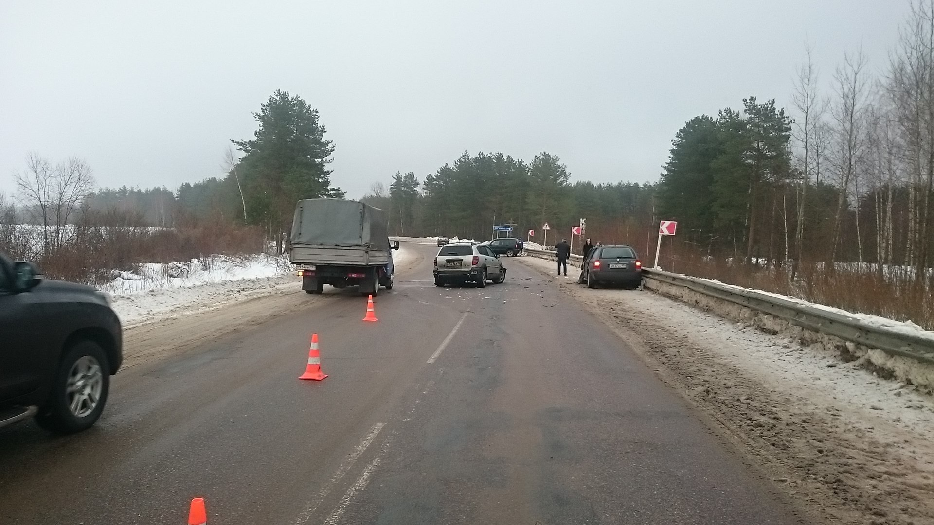На 15 км автодороги Дубна – Кимры – Горицы Кимрского района произошло ДТП