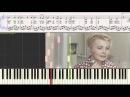 Нежность М Кристалинская Ноты для фортепиано piano cover