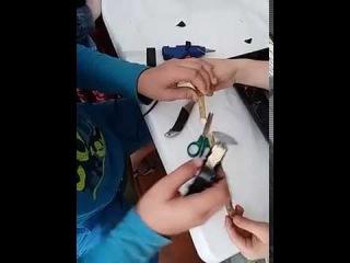 Как легко изготовить мини-пилу.Детский лагерь