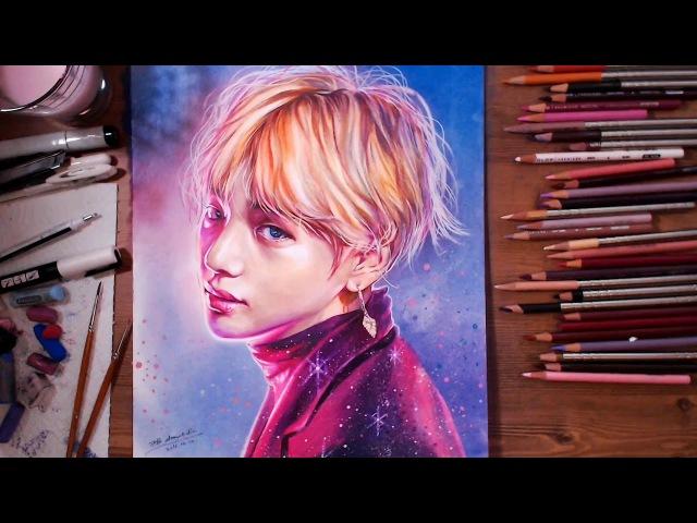 BTS (Bangtan Boys) : V (Kim Tae-hyung) - Speed drawing   drawholic