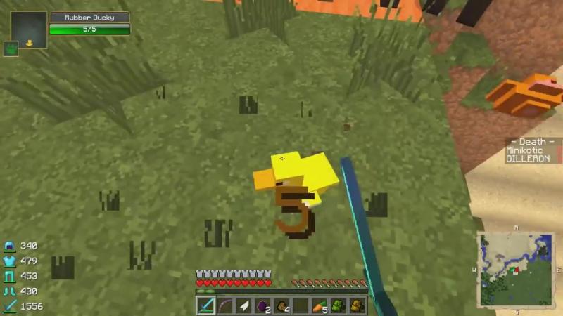 ч.20 Опасные битвы в Minecraft - Мобзилла - dilleron play