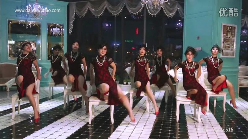 单色舞蹈长沙五一馆中国舞教练班展示《夜上海》 长沙中国舞教练培训班_超清