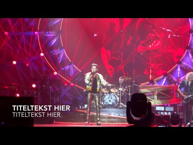 Queen Adam Lambert - RAdio GA GA@Paleis 12 Brussel