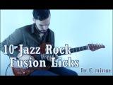 10 Jazz Rock Fusion Licks in C minor